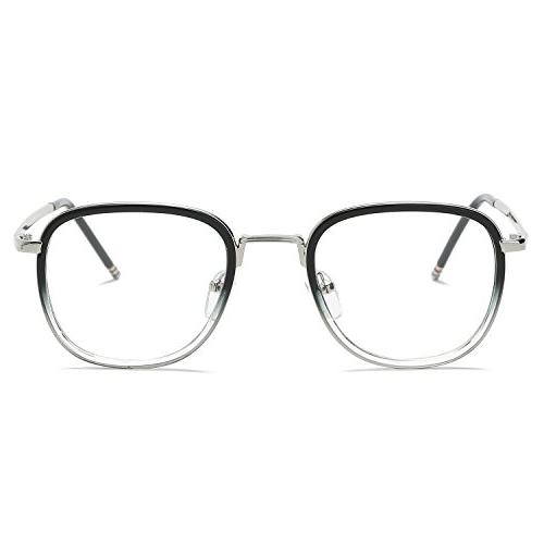 SojoS Square Eyewear for Men and SJ5017 With Frame/Silver