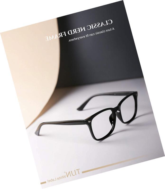 Stylish Square Glasses Lens Men Eyewear