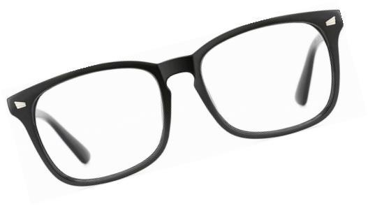 stylish square non prescription eyeglasses glasses clear