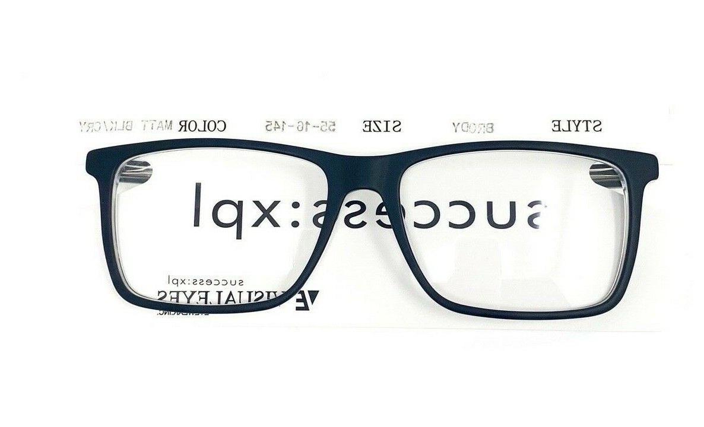 Success Brody Eyeglasses Blk/Cry 55-16-145 Designer Eyewear