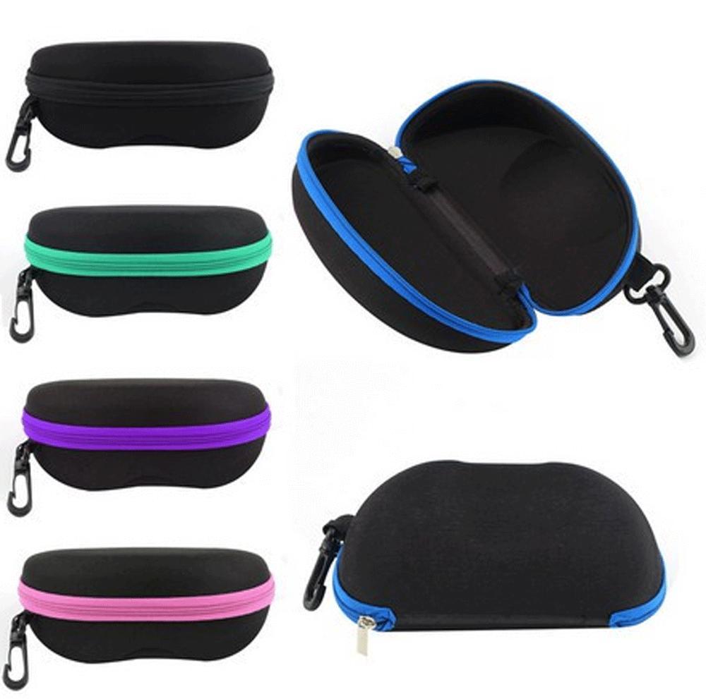 Zipper Sunglasses Case Box Eye Glasses Portable Clam Shell P