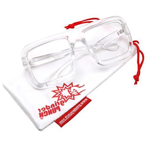 Thick Frame Lens Eyeglasses Oversized Fashion -