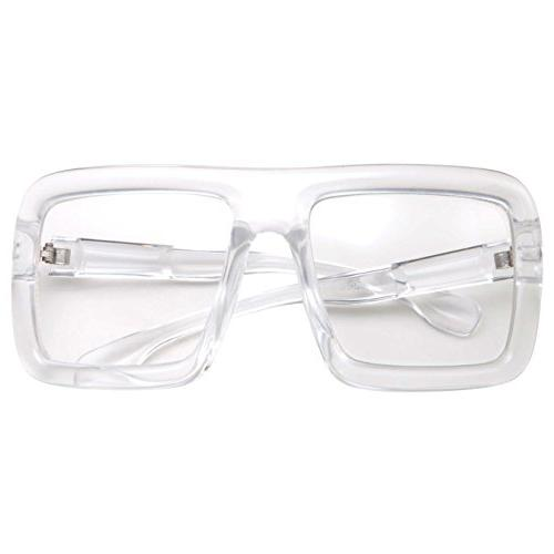 Thick Square Lens Oversized Costume - Clear