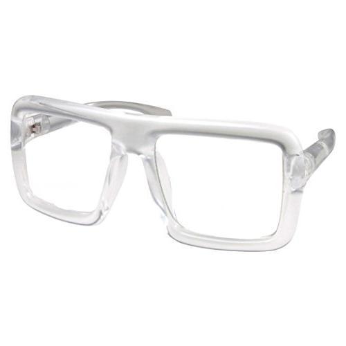 thick square frame clear lens glasses eyeglasses