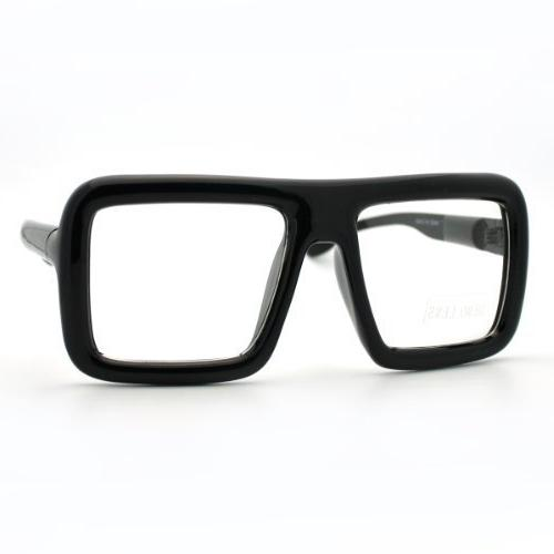 thick square glasses clear lens