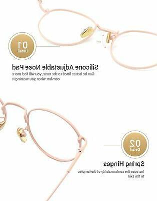 TIJN Metal Eyeglasses Full Round Thin