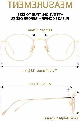 TIJN Eyeglasses Fashion Round Thin