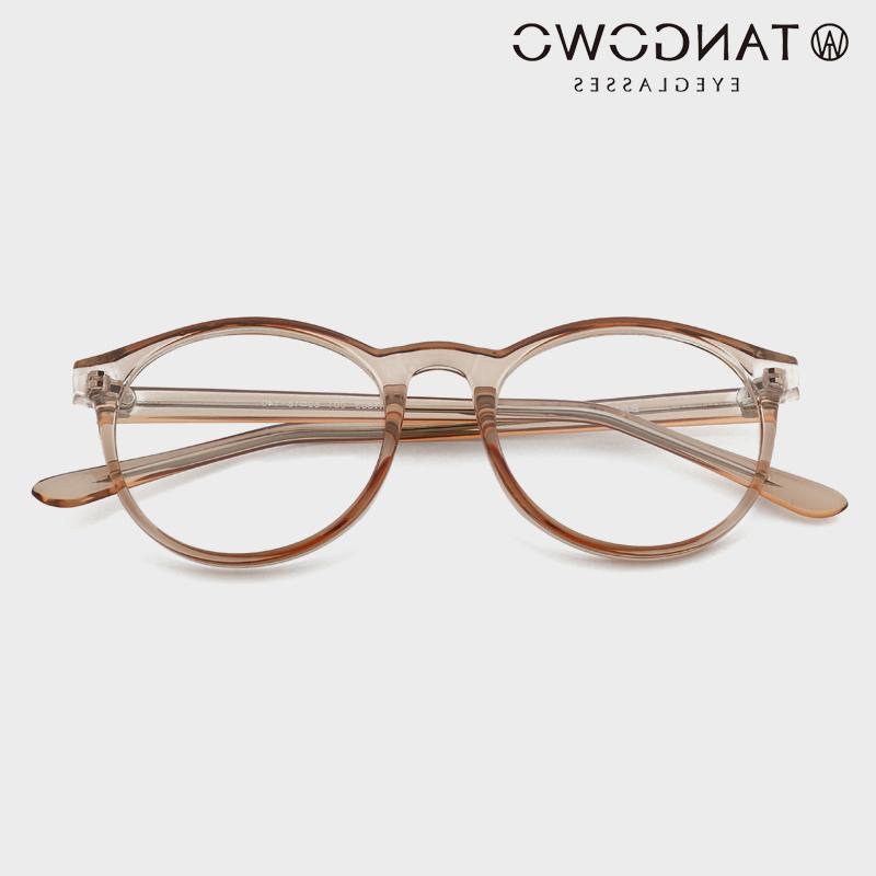 TANGOWO TR90 Round Frame Women Vintage Prescription Myopia Optical Eyewear