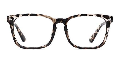 unisex square non prescription glasses eyeglasses frame