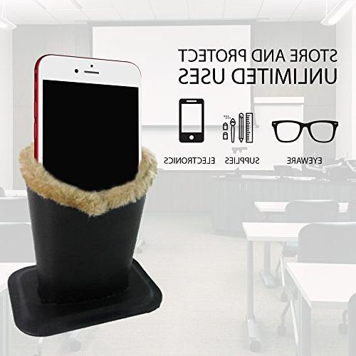 2pk Upright Eyeglasses Holder Stand Soft Plush Lining Case R