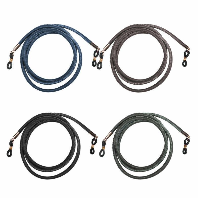 4 Men Women PU Leather Eyeglass Strap Chain Eyewear Cord Hol
