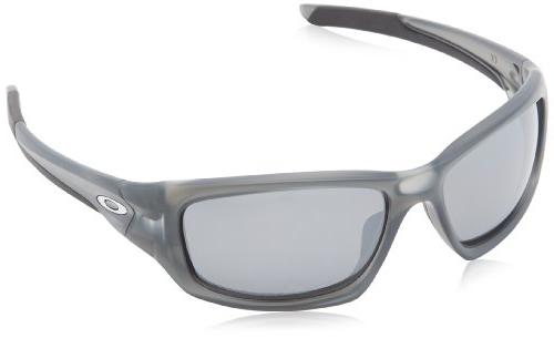 Oakley Valve Polarized Iridium Rectangular Sunglasses,Matte