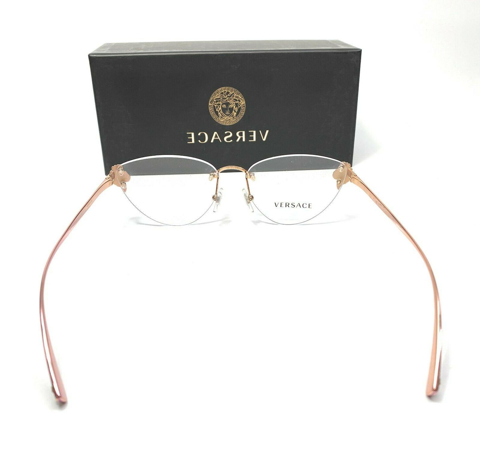 Versace VE1254B 1429 Rose Gold Women's Authentic Frame 54-15