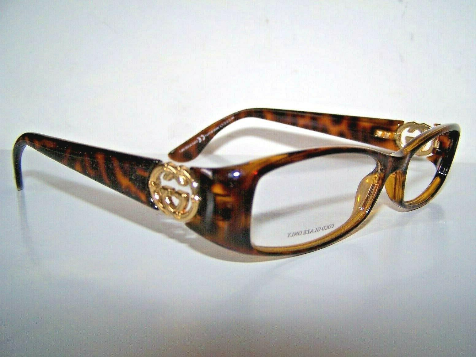 vintage eyeglass frames new authenic tortoise gold