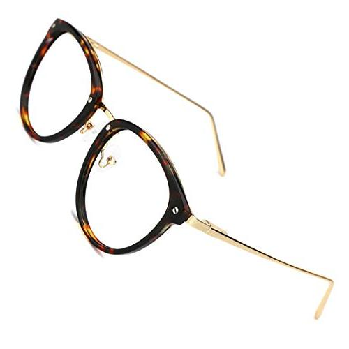 vintage round metal optical eyewear non prescription