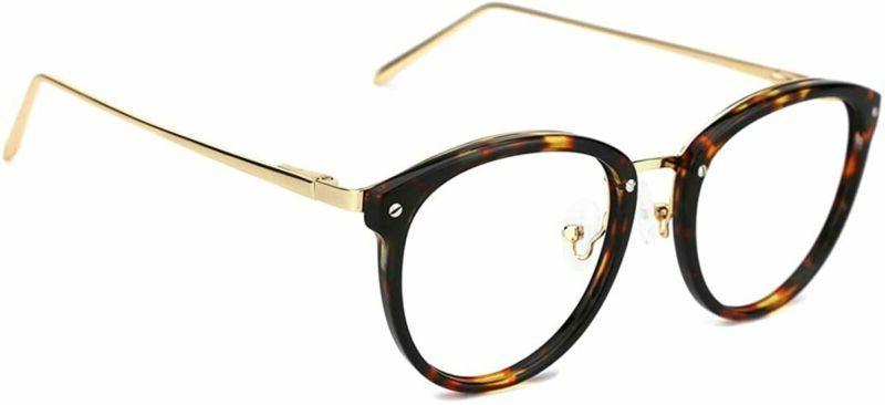 Tijn Vintage Round Metal Optical Eyewear Non-Prescription Ey