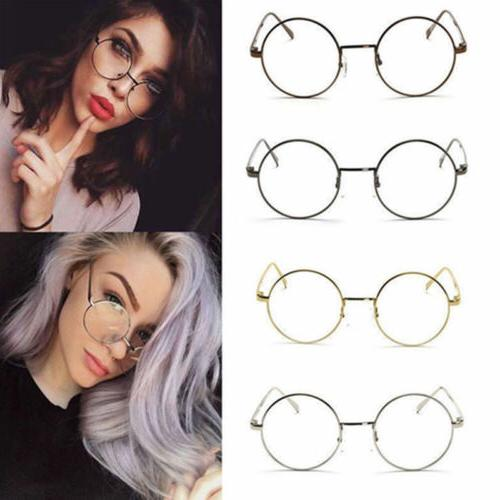 women men large oversized metal frame clear