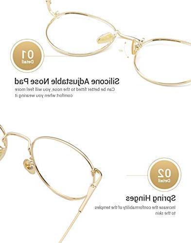 TIJN Circle Eyeglasses Rim Round Thin Artist Frame-Henk