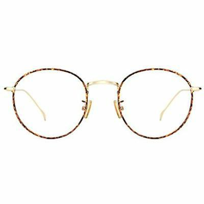 women metal circle eyeglasses fashion full rim