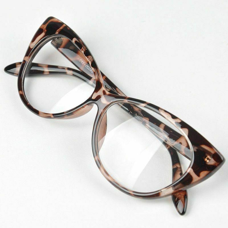 cat eye glasses durable plastic frame female