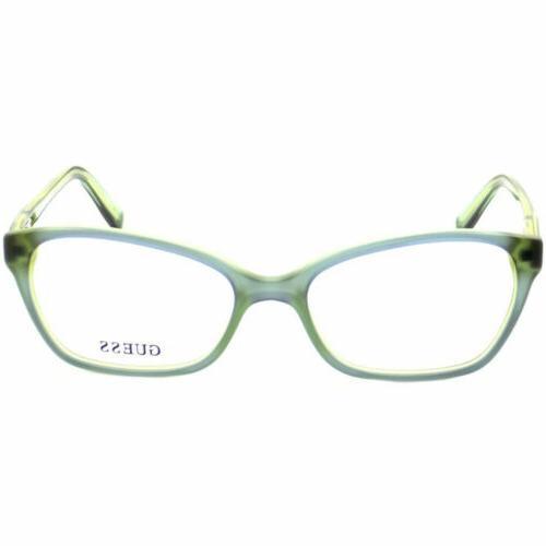 Guess Women's Eyeglasses Lens Blue/Green Acetate Frame 2466V-BLGRN-B74-54