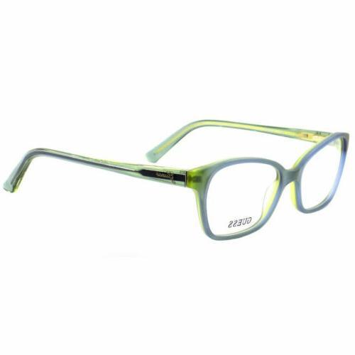 women s eyeglasses demo lens blue green