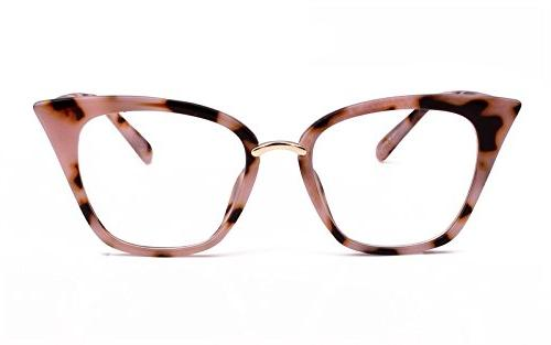 Beison Womens Cat Mod Frame Clear Lens