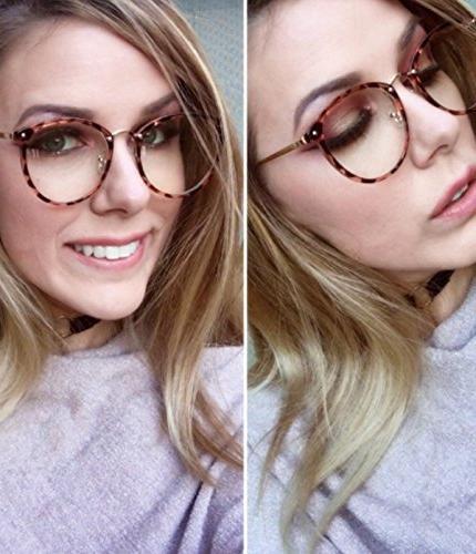 Amomoma Round Eyeglasses Optical Frame Lens AM5001