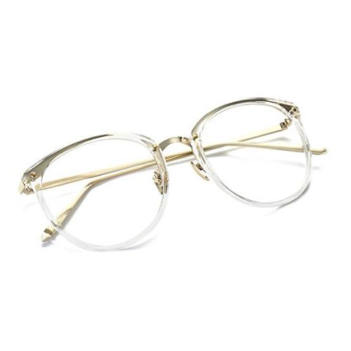 Amomoma Fashion Round Eyeglasses Lens