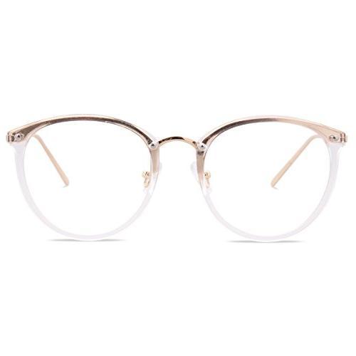 womens fashion round eyeglasses optical frame clear