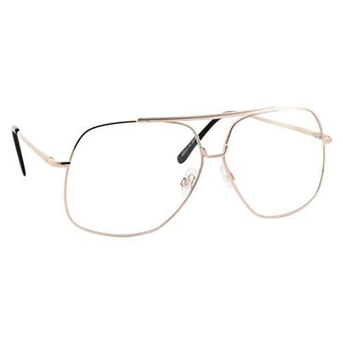 xl mens aviator clear lens eye glasses