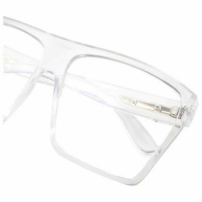 XL Frame Top Square Eyeglasses