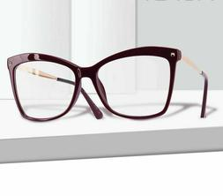 Ladies Frame Eyeglasses Clear Lens Eye-wear Accessories Fema