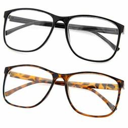grinderPUNCH Large Nerdy Thin Plastic Frame Clear Lens Eye G