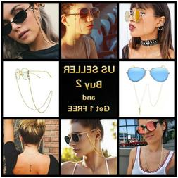 Lengthened Crystal Chain Hanging Neck Eyeglasses Holder Cord
