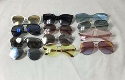 Lot Of 12 Women's Designer Sunglasses Reflective Mirror St