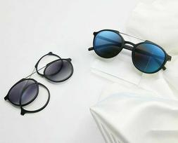 Magnetic Polarized Myopia Frame Eyeglasses Women's Solid Pat