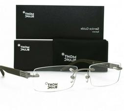 Montblanc Matte Light Silver Rimless eyeglasses Brand New 38
