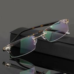 Men Designer Eyeglass Frames Rimless Spectacle Frames Optica