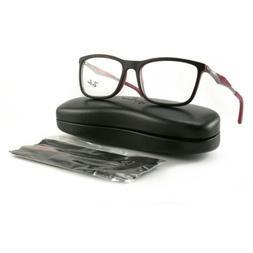 Ray Ban Men Eyeglasses RX7029 5259 Top Black Matte 55 17 145