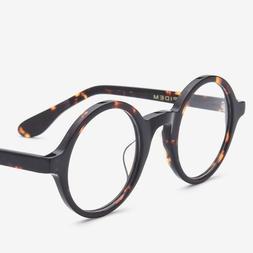 Men Eyeglasses Women Retro Vintage Solid Round Frame Optical