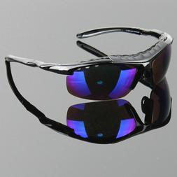 Men Polarized Sunglasses Sport Wrap Around Mirror Driving Ra