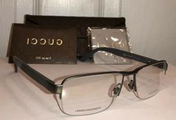 GUCCI Men's Eyeglass Frames GG2258 STAINLESS STEEL Web Strip