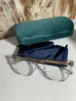Gucci Men's Eyeglasses GG0184O GG/0184/O 005 Grey Transparen