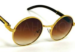Men's Eyeglasses Temple Buffs Migos Sunglasses Round Gold Fr