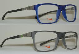 NIKE Men's Glasses Eyeglasses 7107 Lightweight Frame Blue or