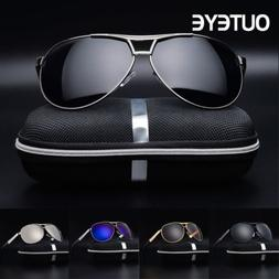 Men's Mirror Lens Sunglasses Outdoor Sports Polarized Drivin