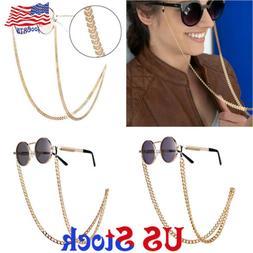 Men's Retro Pull Rope Metal Eyeglass Necklace Sunglasses Spe