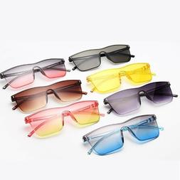 Men's Square Sunglasses Vintage Colorful Designer Eye Wear A