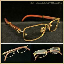 Men Sophisticated CLASSY ELEGANT Clear Lens EYE GLASSES Gold